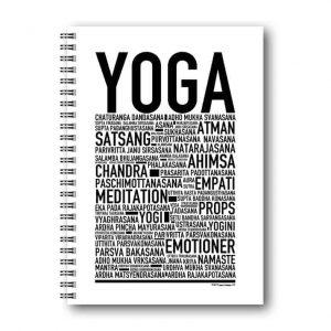 Skrivbok Yoga hos Kalenderspecialisten