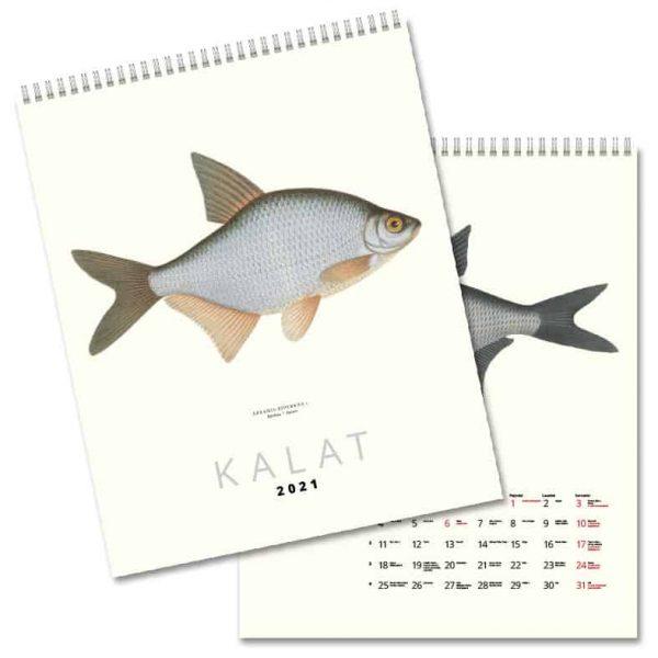 Väggkalender Fiskar 2021 FINSK hos kalenderspecialisten