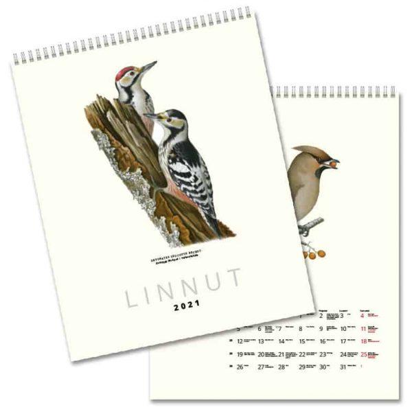 Väggkalender Fåglar FINSK 2021 hos kalenderspecialisten