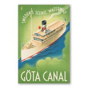 Vykort Göta Kanal Kalenderspecialisten