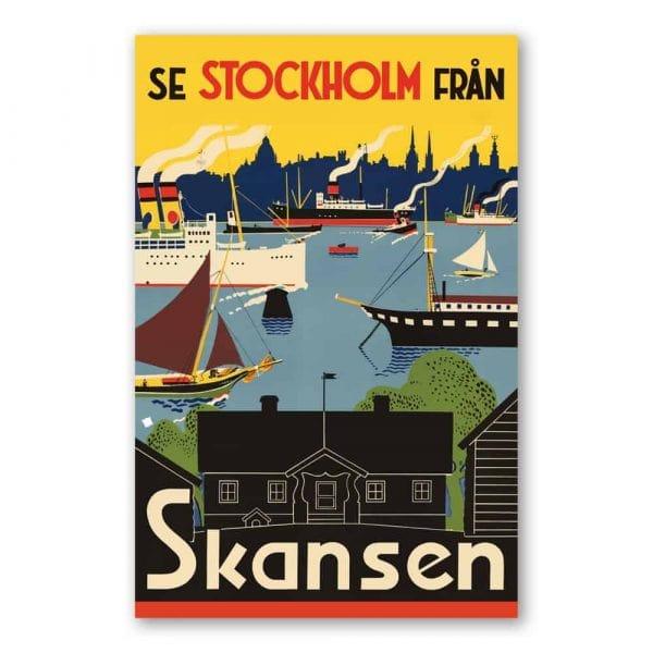 Vykort Se Stockholm från Skansen Kalenderspecialisten