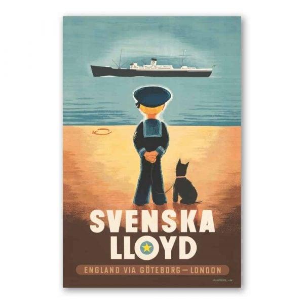 Vykort Svenska Lloyd Kalenderspecialisten