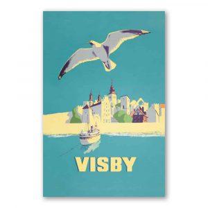 Vykort Visby från havet kalenderspecialisten