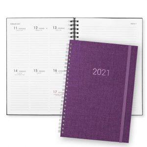 Almanacka 2021 Paperstyle Newport Lila hos Kalenderspecialisten