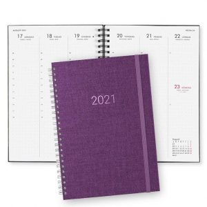 Almanacka 2021 Paperstyle Newport Lila Dotted hos Kalenderspecialisten