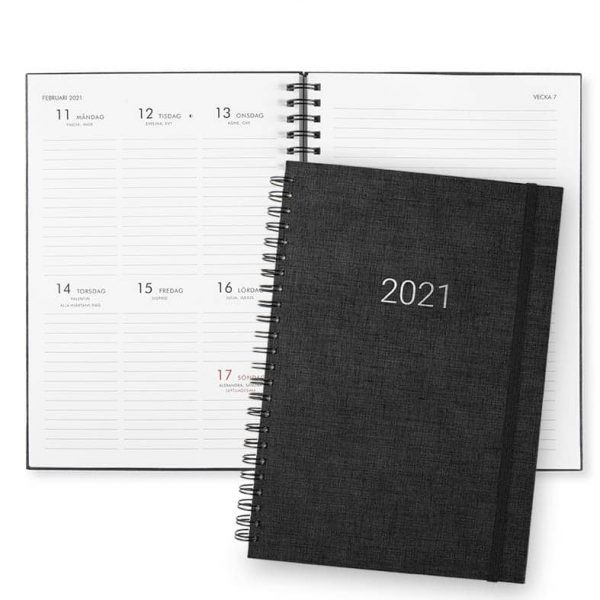 Almanacka 2021 Paperstyle Newport Svart hos kalenderspecialisten