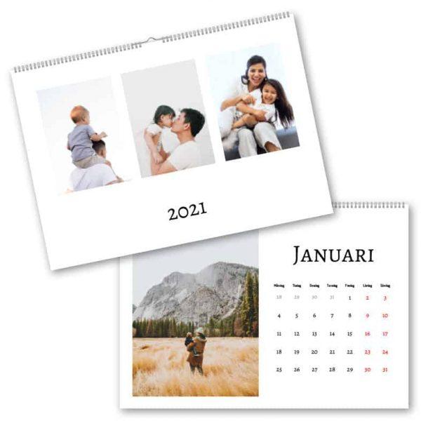 Fotokalender A3 Trippel hos Kalenderspecialisten
