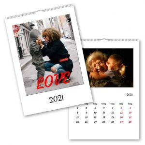 Fotokalender A3 Clean hos kalenderspecialiste