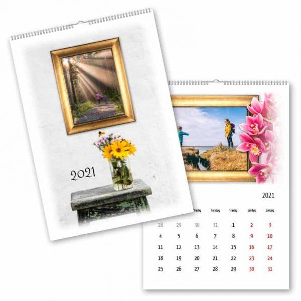 Fotokalender A3 Guldram Blomma hos Kalenderspecialisten