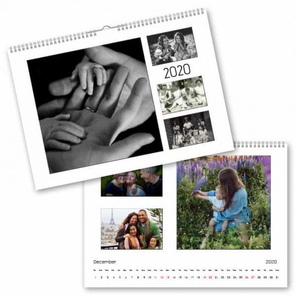 Fotokalender A4 Multipel hos Kalenderspecialisten