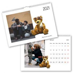 Fotokalender A4 Nallebjörn hos Kalenderspecialisten