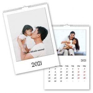 Fotokalender A4 Clean hos Kalenderspecialisten