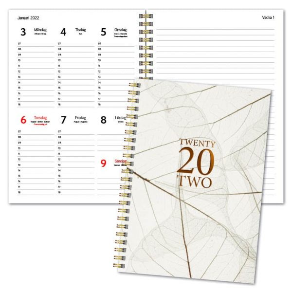 Almanacka A5 Trend Vit 2022 hos Kalenderspecialisten