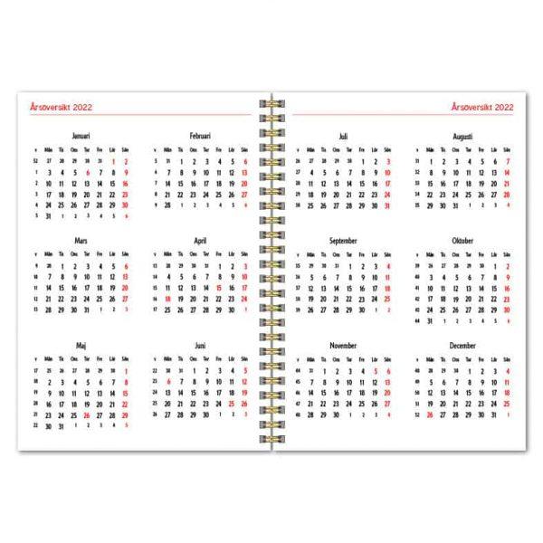 Almanacka A5 Trend Vit 2022 Uppslag 3