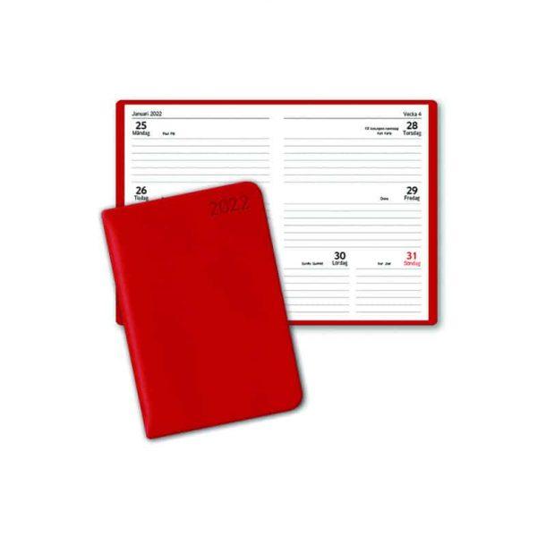 Almanacka Pocket Röd 2022 hos Kalenderspecialisten