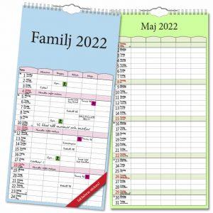 Familjekalender Färg 2022 hos Kalenderspecialisten
