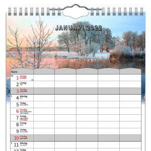 Familjekalender Four Seasons 2022 kalendarium