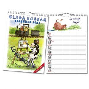 Familjekalender Glada Kossan 2022 hos Kalenderspecialisten