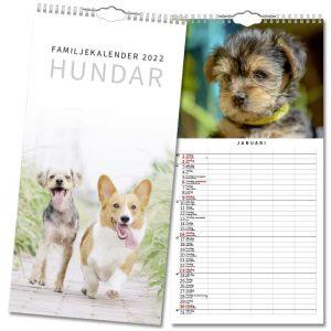 Familjekalender Hundar 2022 hos Kalenderspecialisten