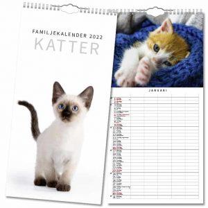 Familjekalender Katter 2022 hos Kalenderspecialisten