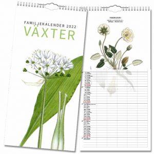 Familjekalender Växter 2022 hos Kalenderspecialisten