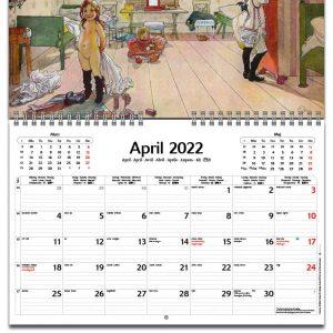 Väggkalender Carl Larsson 2022 kalendarium