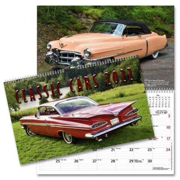 Väggkalender Classic Cars 2022 hos kalenderspecialisten