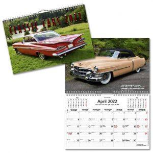 Väggkalender Classic Cars liten 2022 hos Kalenderspecialisten