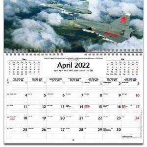 Väggkalender Classic Wings 2022 kalendarium