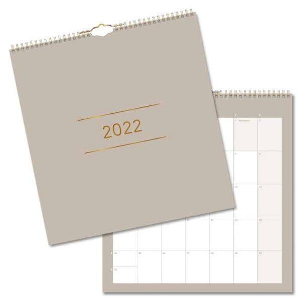Väggkalender Clean 2022 hos Kalenderspecialisten