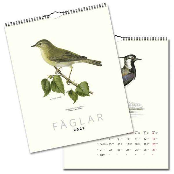 Väggkalender Fåglar 2022 hos Kalenderspecialisten