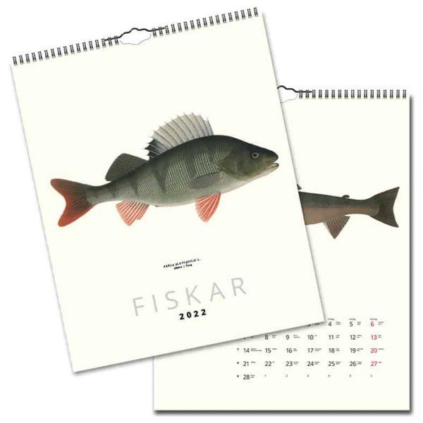 Väggkalender Fiskar 2022 hos Kalenderspecialisten