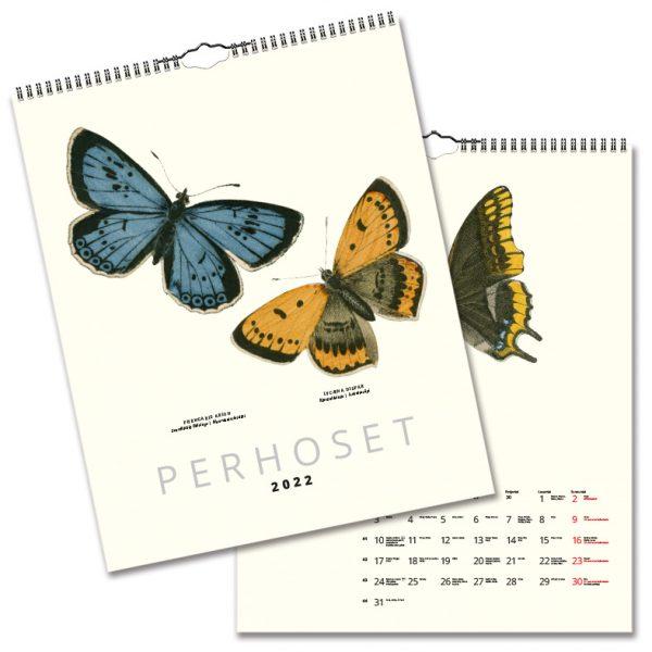 Väggkalender Fjärilar 2022 Finsk