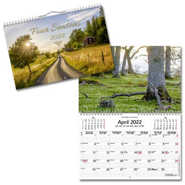 Väggkalender Fyra Årstider 2022 hos Kalenderspecialisten