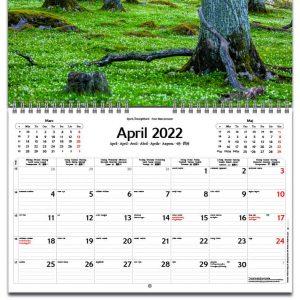 Väggkalender Fyra Årstider 2022 kalendarium