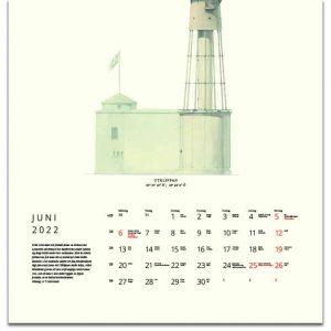 Väggkalender Fyrar 2021 kalendarium