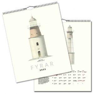 Väggkalender Fyrar 2021 hos Kalenderspecialisten