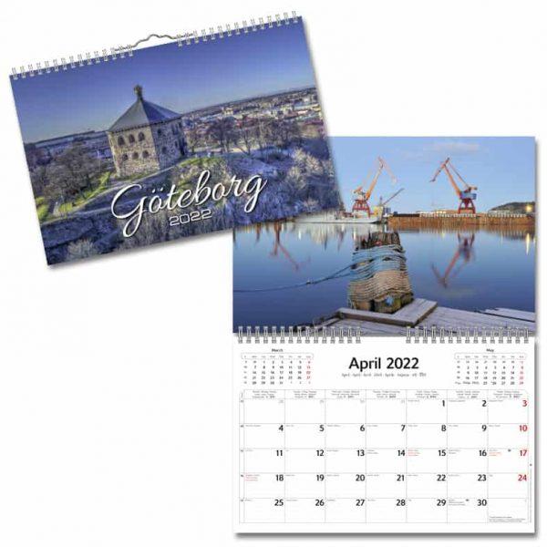 Väggkalender Göteborg 2022 hos Kalenderspecialisten