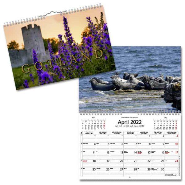 Väggkalender Gotland 2022 hos Kalenderspecialisten