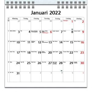 Väggkalender Hundar Mini 2022 kalendarium
