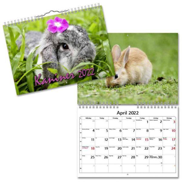 Väggkalender Kaniner Small 2022 hos Kalenderspecialisten
