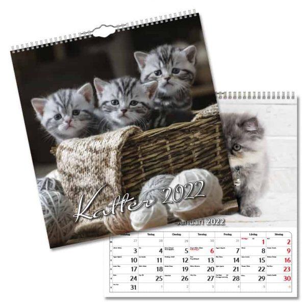Väggkalender Katter Large 2022 hos Kalenderspecialisten