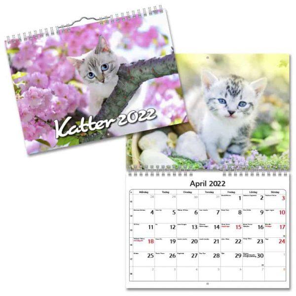 Väggkalender Katter Small 2022 hos Kalenderspecialisten