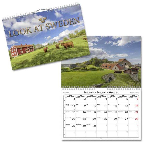 Väggkalender Look at Sweden 2022 liten hos kalenderspecialisten
