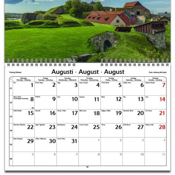 Väggkalender Look at Sweden 2022 liten kalendarium
