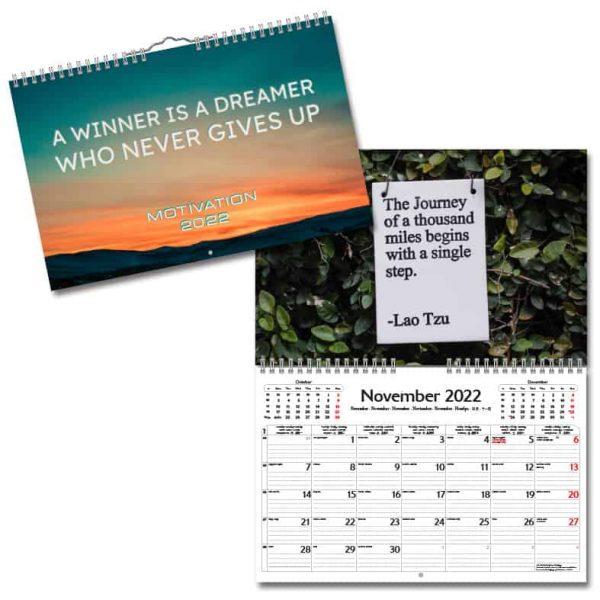 Väggkalender Motivation 2022