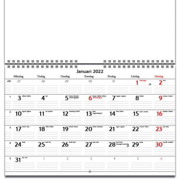 Väggkalender Planering 2022 kalendarium