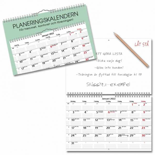 Väggkalender Planering 2022 Hos Kalenderspecialisten