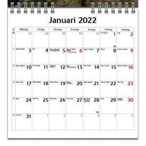 Väggkalender Roliga Djur Mini 2022 kalendarium