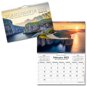 Väggkalender Scandinavia 2022 hos Kalenderspecialisten